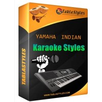 Dheere dheere chal chand gagan mein Yamaha Indian Karaoke Tabla Style