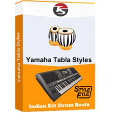 Awara hoon ya gardish mein hoon Yamaha Indian Tabla Style